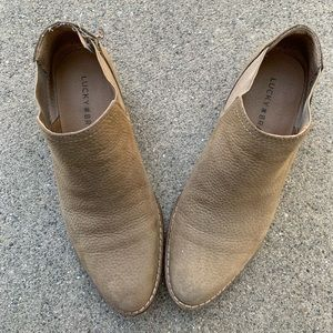 Lucky Brand tan booties